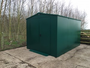 Our organic animal feed shed from Asgard