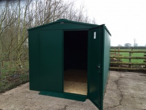 A shed for our organic animal feed